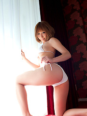Adorable plump asian babe looks incredible in her maid costume