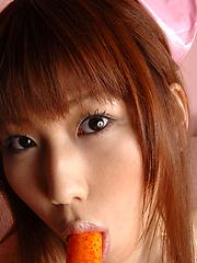 Naughty gravure idol nurse showing her white panties and tits