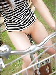 Japanese model Aki Kawasaki outdoor posing