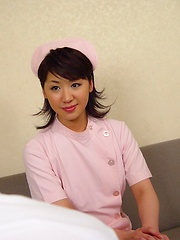 Hairy Japanese teen receives a creampie from the doctor