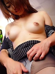 Horny Japanese bar girl sucks and fucks cock for seemens
