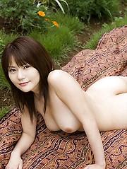 Riria Himesaki hot Asian babe shows off nice tits