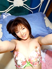 Akane is sexy and likes to tease by showing her big tits