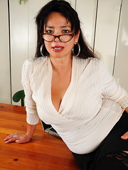 Naughty Asian American housewife getting frisky