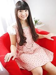 Big-eyed asian girl Mariko Fujie