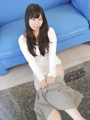 Brunette japanese doll Chinatsu Murota