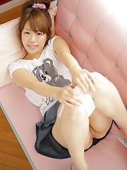Cute girl from Japan Saeko Takamura loves her smooth hole