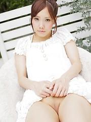 Very hot asian schoolgirl Asuka Yonezawa moves apart her sexy legs