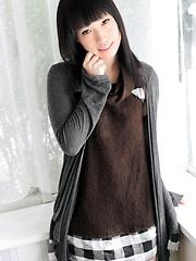 Cute skinny girl Chiharu Yoshino loves her asian body