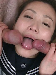 Innocent Tokyo girl Yuria in groupsex scene