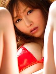 Sexy and busty japanese model Anri Sugihara posing in bikini