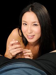 Anna Sakura doing handjob for lucky guy