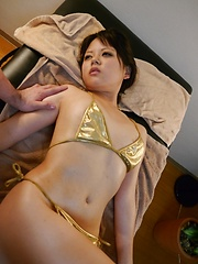 Toys game for oiled japanese girl