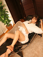 Small-titted japanese girl on massage table