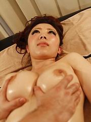 Japanese woman oiled massage