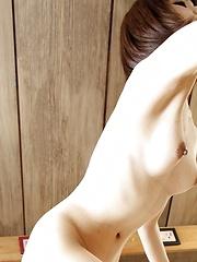 Asian girl undressing