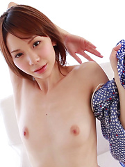 Japanese girls are famous for wearing cotton panties but Ryouko likes silky lingerie and enjoys hanging out topless or fully nude in her apartment. Sexy!