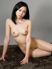 Yokoyama Natsuki posing in sexy socks