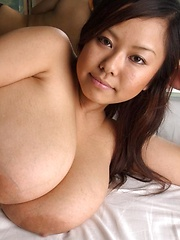 Monster boobs japanese porn star Fuko posing in sexy lingerie