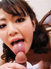 Tomoka Sakurai Asian rides cock so well after having cunt rubbed