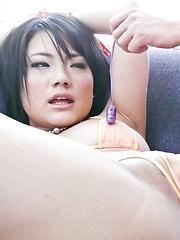 Haruna Katou Asian gets vibrators on and inside her cum dumpster