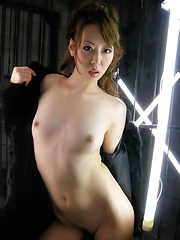 Misato Sakurai Asian gets middle finger and strong dick in pussy