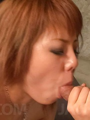 Rui Shiina Asian sucks dongs and has cunt licked before frigging