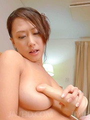 Yayoi Yanagida Asian enjoys shower and fucks pussy with fake cock