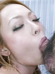 Rei Miyakawa Asian is so erotically sucking and rubbing boners