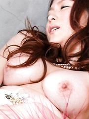 Mirai Haneda Asian busty fucks her nooky with vibrator she licked