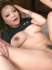 Yuu Haruka Asian is teased with vibrator on clit while is fucked