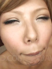Aya Asian nurse gets cum in mouth from sucking strong joystick