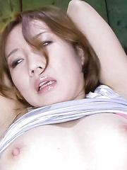 Kazumi Nanase Asian has juicy fish taco aroused with vibrators