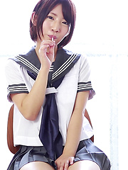 If you're like me and have a fetish for Japanese schoolgirl cosplay and wet cotton panties then you're in for a treat at CKE18. Nozomi is a hentai Japanese girl.