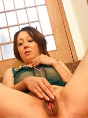 Ruhime Maiori Asian is close to come with vibrator in her nooky