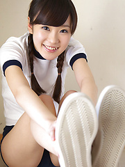 Kana Yuuki Asian with sexy pigtails is very willing for sports