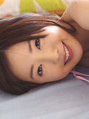 Mio Ayame Asian takes bra off but covers her juicy mosquito bites