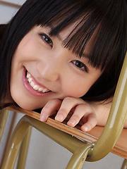 Yuri Hamada Asian shows big cans in bra under sailor gal uniform