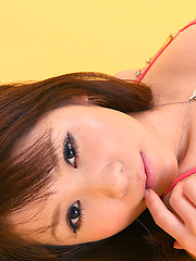 Saki Tachibana Asian with sexy legs and hot tits poses like model
