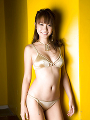 Azusa Yamamoto Asian is a very lustful chick posing so erotically
