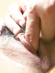 Chihiro Kobayashi Asian has pussy rubbed and filled with sperm