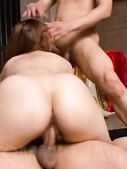 Kazumi Nanase Asian is fucked in holes with fingers and shlongs