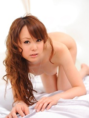Jyunko Hayama Asian has wet pussy from vibrator and sucked cock