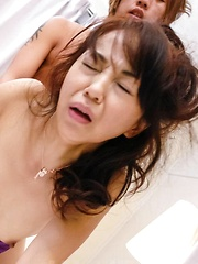 Hiroko Akaishi Asian has peach licked and fucked more and more