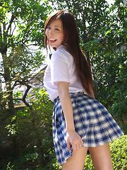 Iyo Hanaki Asian in uniform wants to take classes out of school