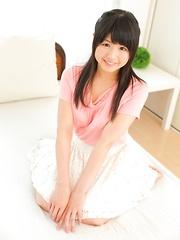 Innocent japanese teen Yuki Shiina shows nude body