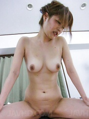 Ibuki Akitsu with stopper in ass squirts while is pumped in twat