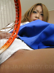 Remika Uehara shaves her pussy for pleasure