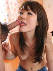 Innocent girl Fuwari sucks a delicious cock