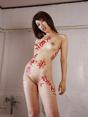 Alluring Remi Kawamura poses on the set nude